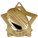 Rugby Star Medal 60mm AM717